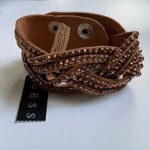 Guess Faux Leather Bracelet